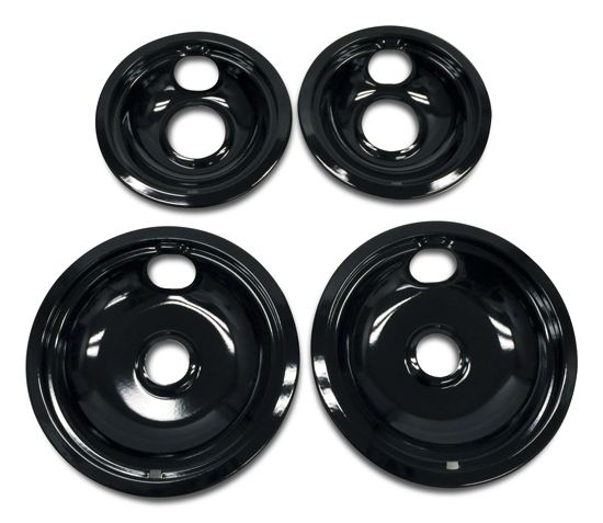Whirlpool Replacement Burner Bowls - 4 Pack - Black-W10288051