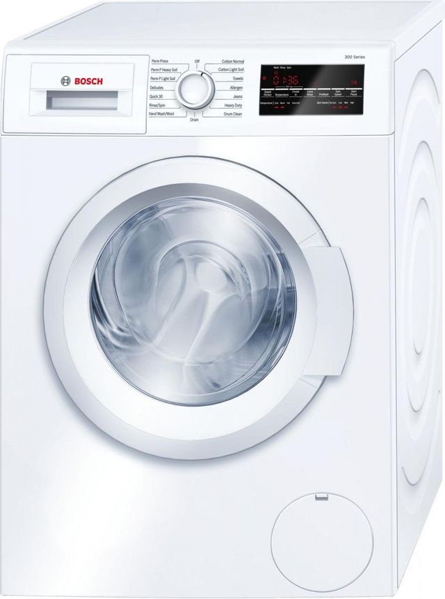Bosch 300 Series Compact Front Load Washer-White-WAT28400UC