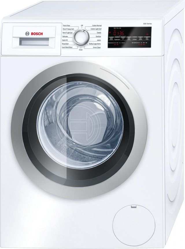 Bosch 500 Series Compact Front Load Washer-White-WAT28401UC