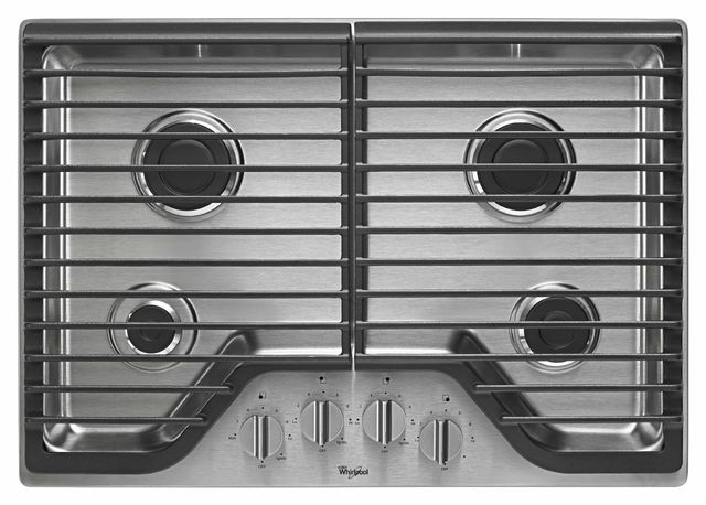 """Whirlpool® 30"""" Gas Cooktop-Stainless Steel-WCG51US0DS"""