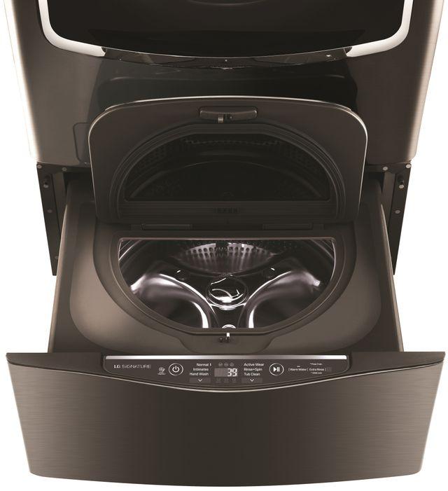 "LG Signature SideKick™ 29"" Black Stainless Steel Pedestal Washer-WD205CK"