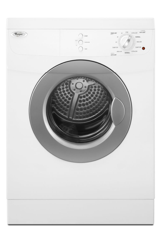 Whirlpool® Compact Front Load Electric Dryer-White-WED7500VW