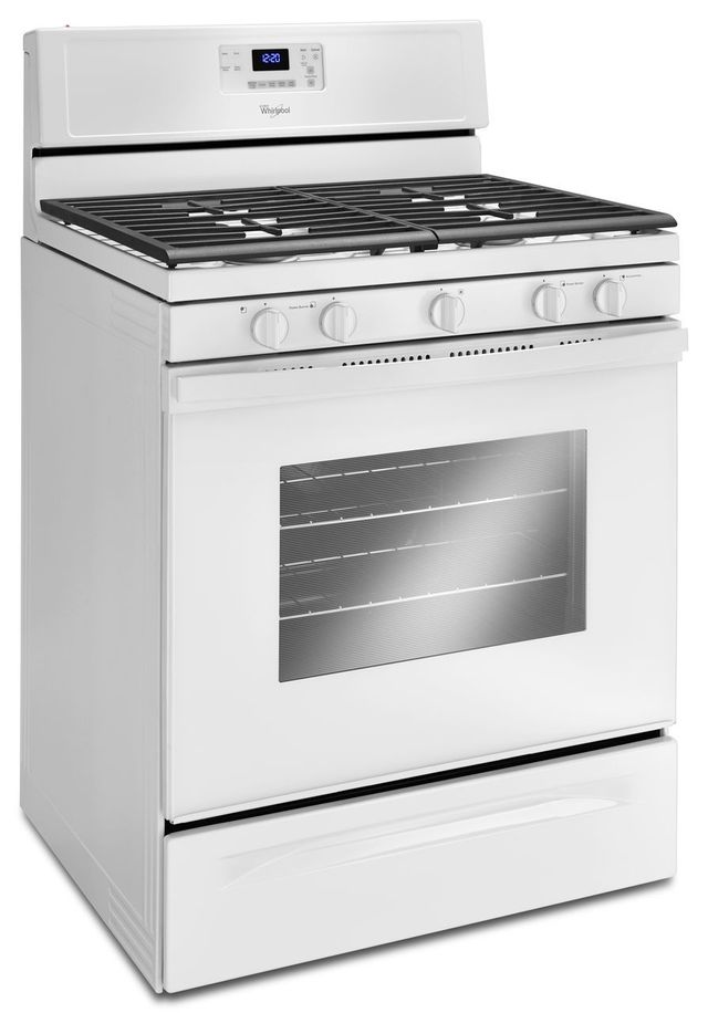 "Whirlpool® 30"" Free Standing Gas Range-White-WFG530S0EW"