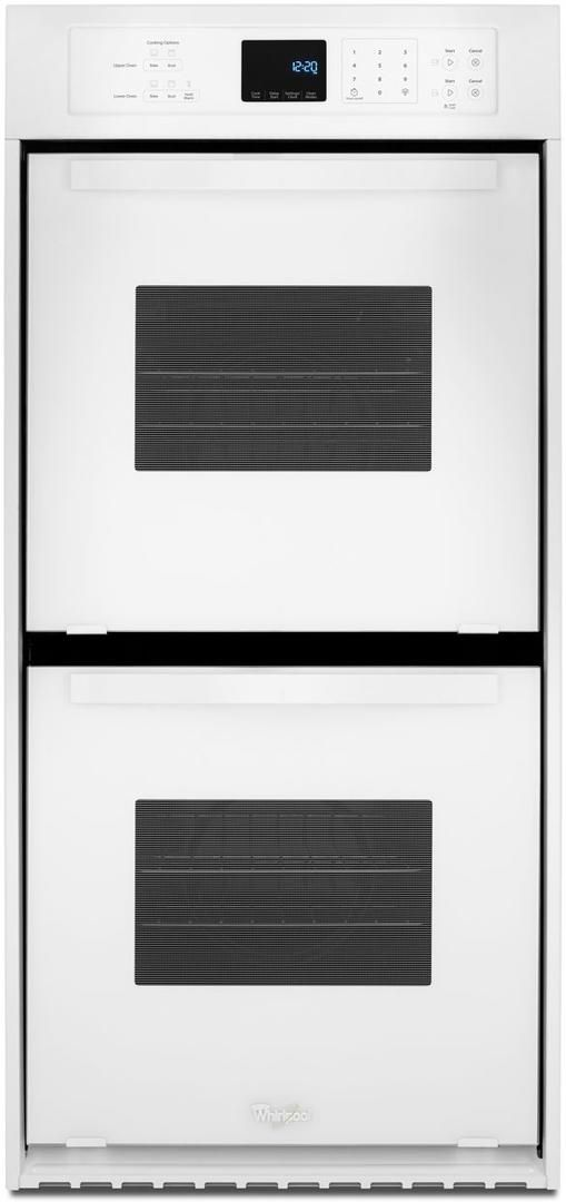 """Whirlpool® 24"""" Electric Built In Double Oven-White-WOD51ES4EW"""