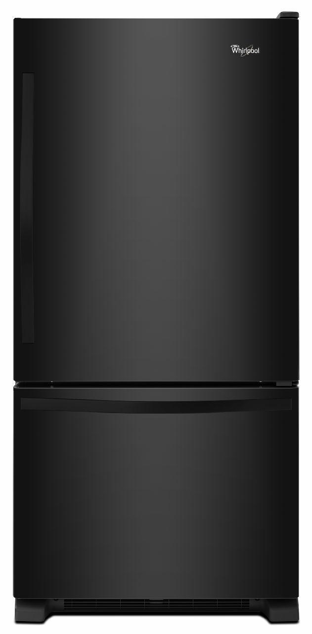 Whirlpool® Gold® 22.07 Cu. Ft. Bottom Freezer Refrigerator-Black-WRB322DMBB