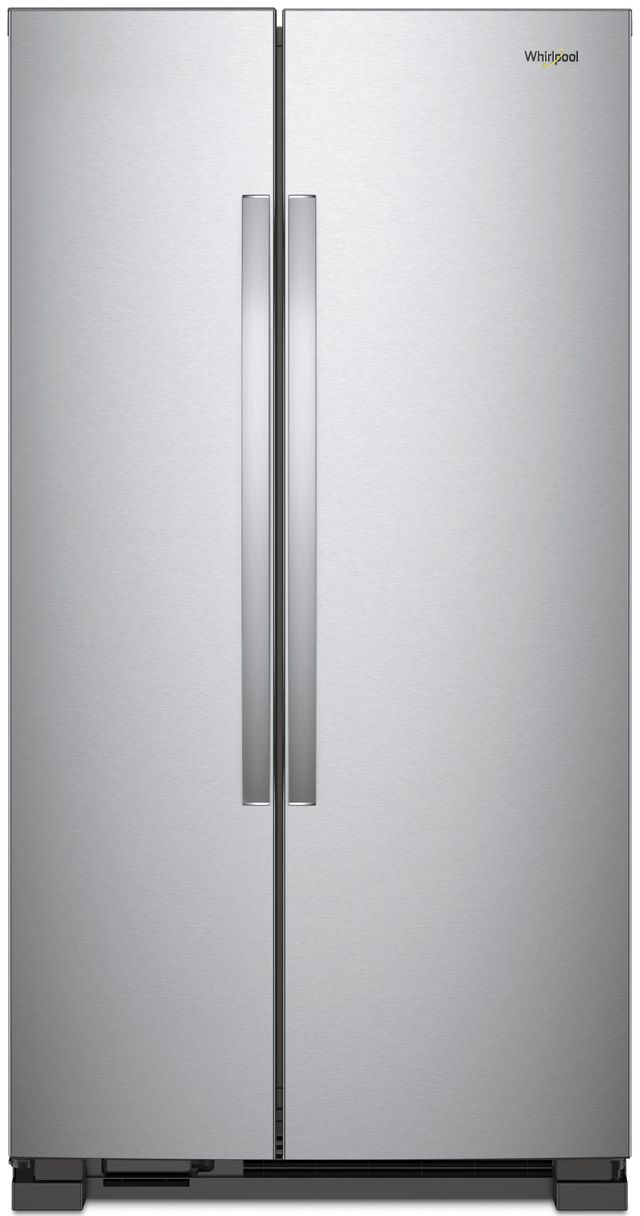 Whirlpool® 22 Cu. Ft. Side-By-Side Refrigerator-Monochromatic Stainless Steel-WRS312SNHM