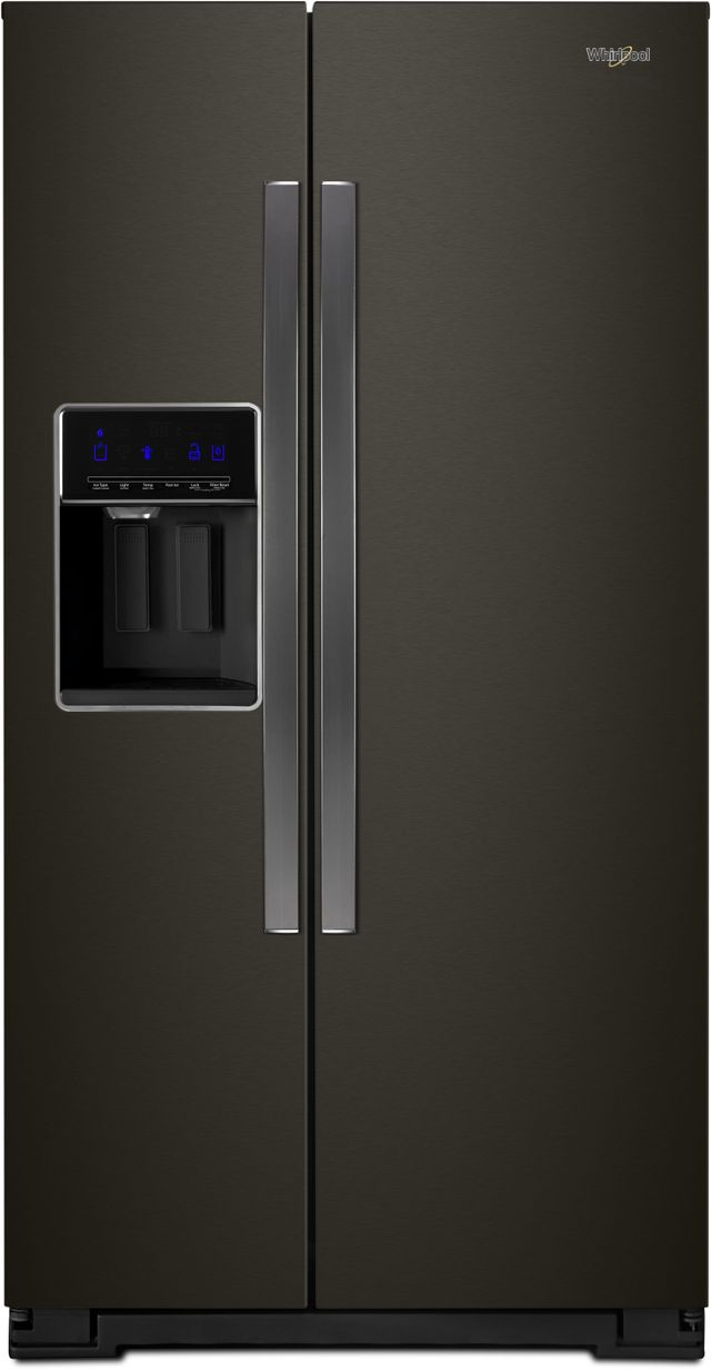Whirlpool® 20.29 Cu. Ft. Counter Depth Side-By-Side Refrigerator-Fingerprint Resistant Black Stainless-WRS571CIHV