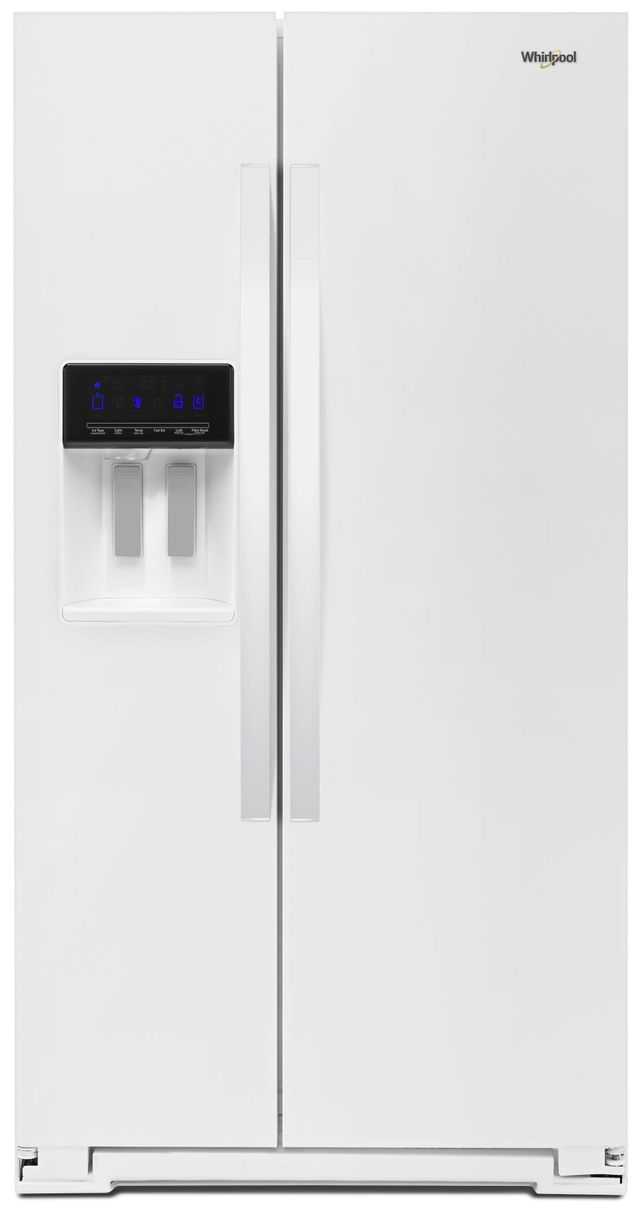 Whirlpool® 20.29 Cu. Ft. Counter Depth Side-By-Side Refrigerator-White-WRS571CIHW