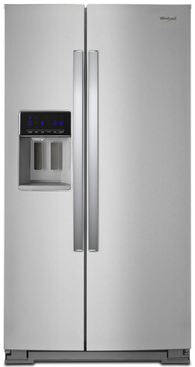 Whirlpool® 20.29 Cu. Ft. Counter Depth Side-By-Side Refrigerator-Fingerprint Resistant Stainless Steel-WRS571CIHZ