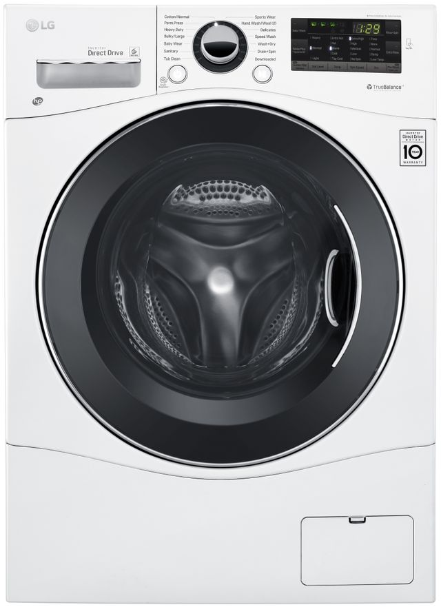 LG 2.3 Cu. Ft. White Front Load Compact All-In-One Washer/Dryer Combo-WM3488HW
