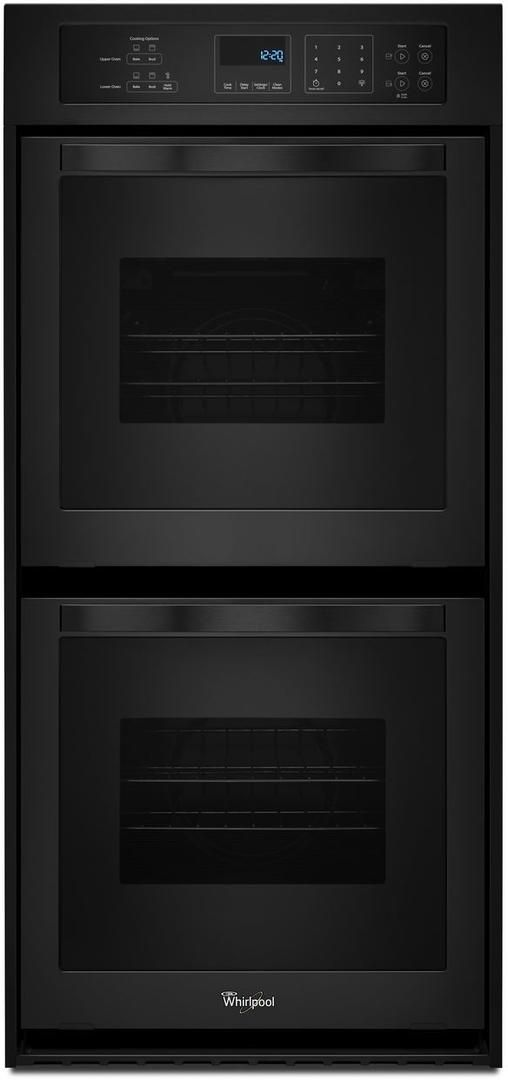 """Whirlpool® 24"""" Electric Built In Double Oven-Black-WOD51ES4EB"""