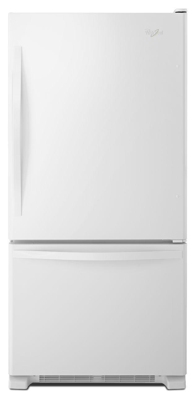 Whirlpool® 19.0 Cu. Ft. Bottom Freezer Refrigerator-White-WRB329DMBW