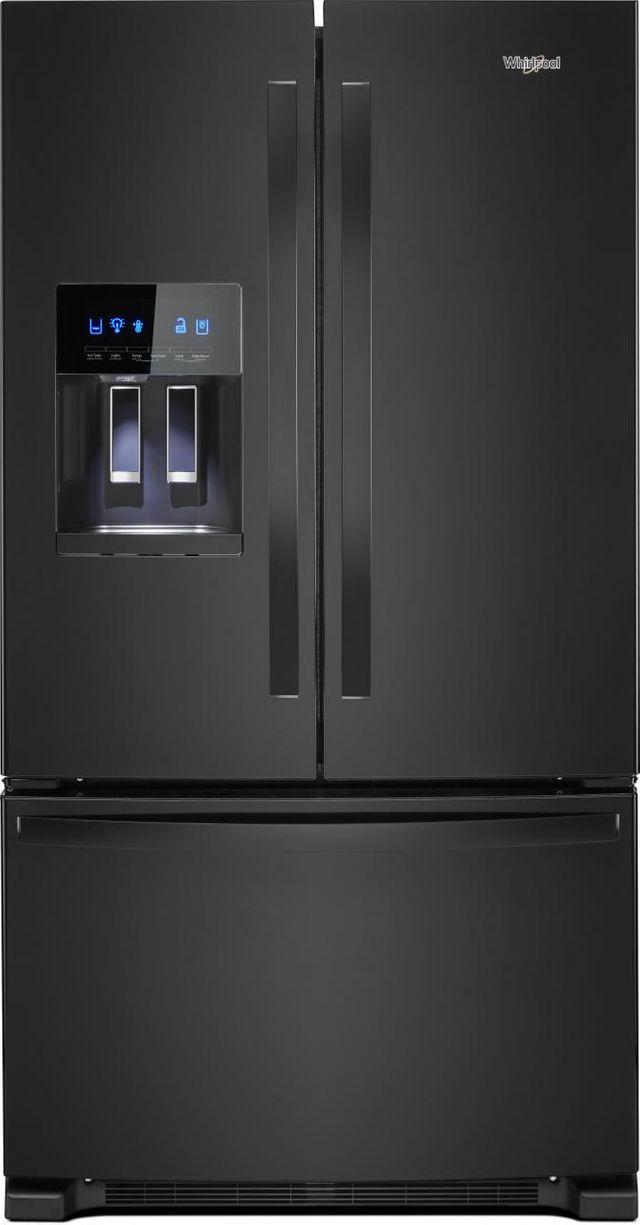Whirlpool® 24.7 Cu. Ft. French Door Refrigerator-Black-WRF555SDHB