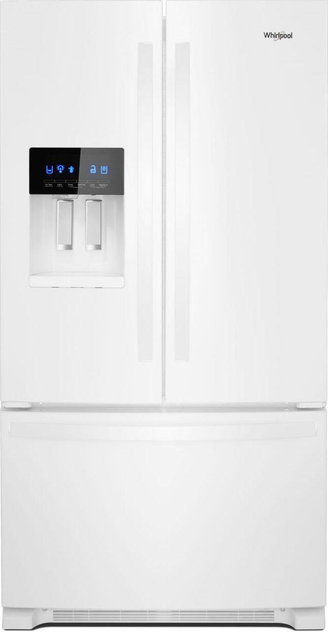 Whirlpool® 24.7 Cu. Ft. French Door Refrigerator-White-WRF555SDHW