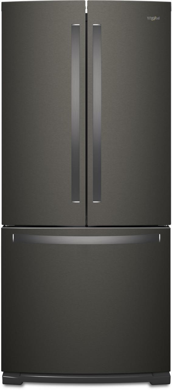 Whirlpool® 20 Cu. Ft. French Door Refrigerator-Fingerprint Resistant Black Stainless-WRF560SMHV