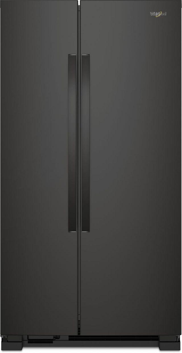 Whirlpool® 22 Cu. Ft. Side-By-Side Refrigerator-Black-WRS312SNHB