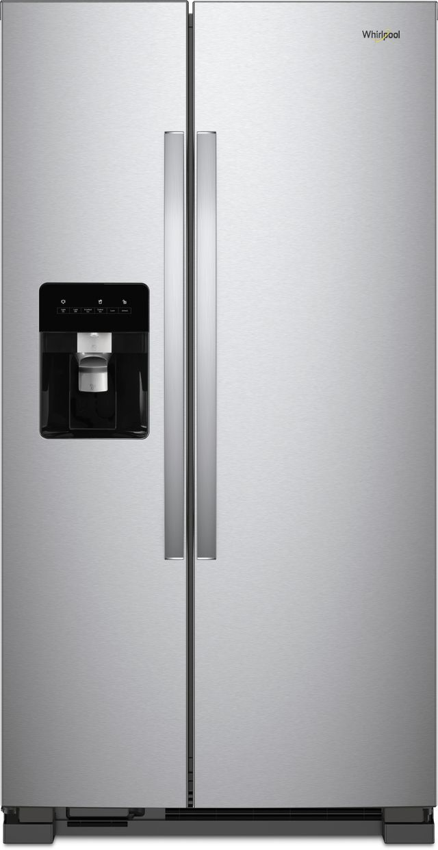 Whirlpool® 25 Cu. Ft. Side-By-Side Refrigerator-Monochromatic Stainless Steel-WRS315SDHM