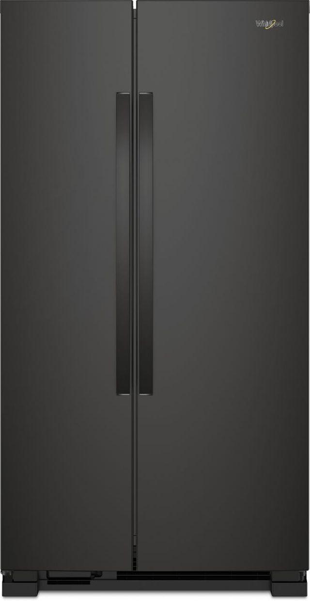 Whirlpool® 25.1 Cu. Ft. Side-By-Side Refrigerator-Black-WRS315SNHB