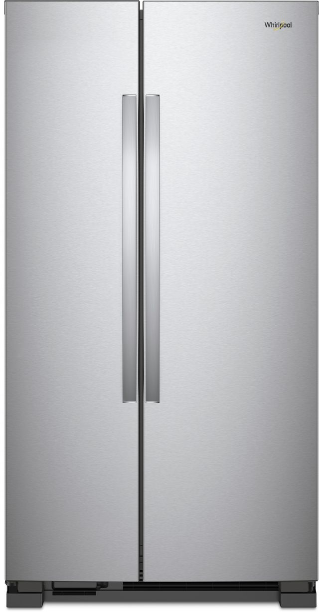 Whirlpool® 25.1 Cu. Ft. Side-By-Side Refrigerator-Monochromatic Stainless Steel-WRS315SNHM