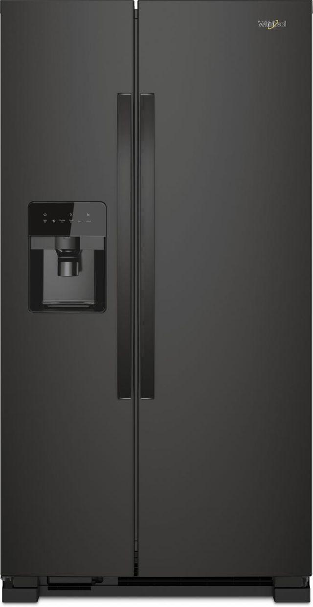 Whirlpool® 21 Cu. Ft. Side-By-Side Refrigerator-Black-WRS331SDHB