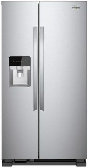 Whirlpool® 21 Cu. Ft. Side-By-Side Refrigerator-Monochromatic Stainless Steel-WRS331SDHM
