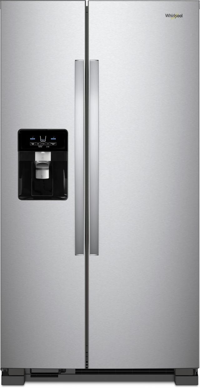 Whirlpool® 25 Cu. Ft. Side-By-Side Refrigerator-Monochromatic Stainless Steel-WRS335SDHM