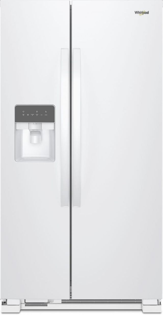 Whirlpool® 25 Cu. Ft. Side-By-Side Refrigerator-White-WRS335SDHW