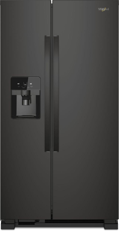 Whirlpool® 25 Cu. Ft. Side-by-Side Refrigerator-Black-WRS555SIHB