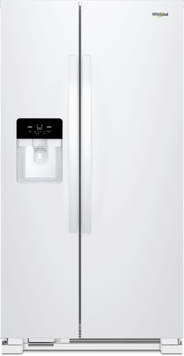 Whirlpool® 25 Cu. Ft. Side-by-Side Refrigerator-White-WRS555SIHW