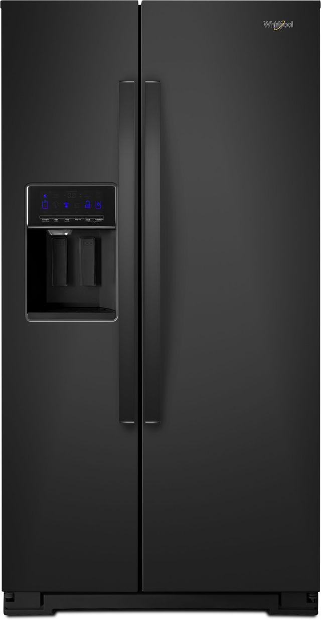 Whirlpool® 21 Cu. Ft. Counter Depth Side-By-Side Refrigerator-Black-WRS571CIHB