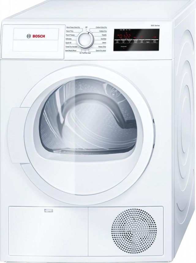 Bosch 300 Series Front Load Electric Dryer-White-WTG86400UC
