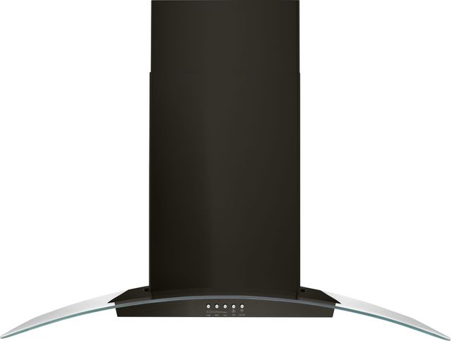 """Whirlpool® 36"""" Black Stainless Concave Glass Wall Mount Range Hood-WVW51UC6HV"""