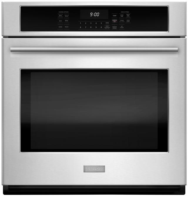 "Monogram® 27"" Electric Single Wall Oven-Stainless Steel-ZEK7000SHSS"