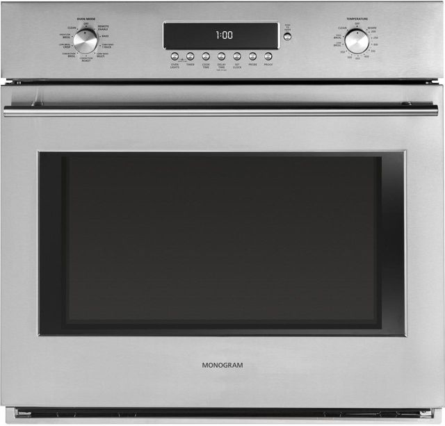 """Monogram® 30"""" Electronic Convection Single Wall Oven-Stainless Steel-ZET1SHSS"""