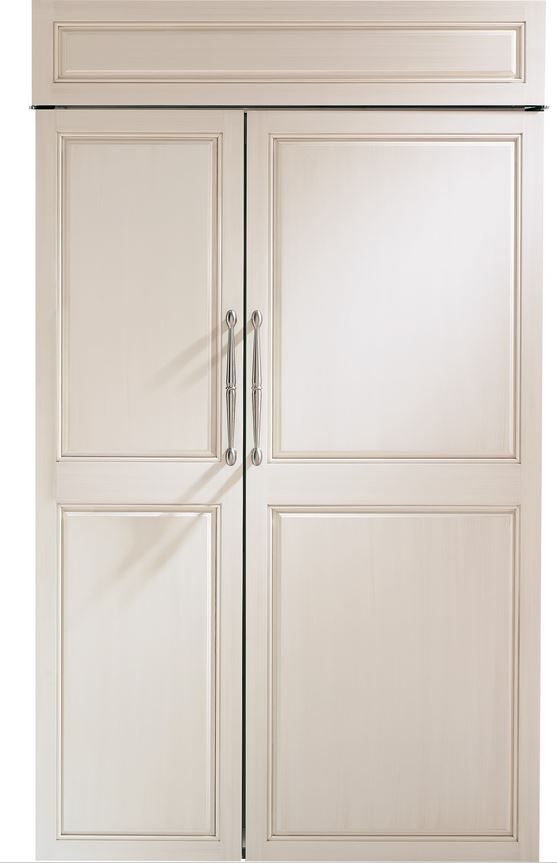 GE® Monogram® 30 Cu. Ft. Built-In Side-by-Side Refrigerator-Panel Ready-ZIS480NH