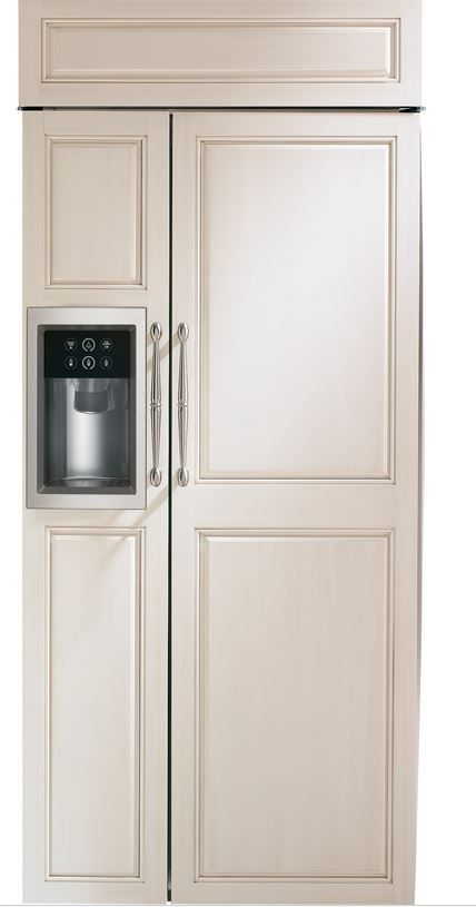 GE® Monogram® 21 Cu. Ft. Built-In Side-by-Side Refrigerator-Panel Ready-ZISB360DH