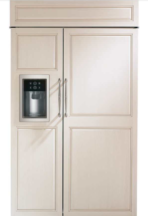 GE® Monogram® 29 Cu. Ft. Built-In Side-by-Side Refrigerator-Panel Ready-ZISB480DH