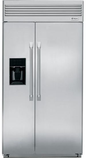 "Monogram® 42"" Built-In Side-by-Side Refrigerator-ZISP420DXSS"