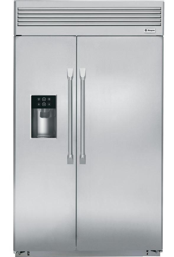 GE® Monogram® Professional 29 Cu. Ft. Built-In Side-by-Side Refrigerator-Stainless Steel-ZISP480DHSS
