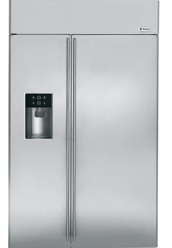 GE® Monogram® 25 Cu. Ft. Built-In Side-by-Side Refrigerator-Stainless Steel-ZISS420DHSS