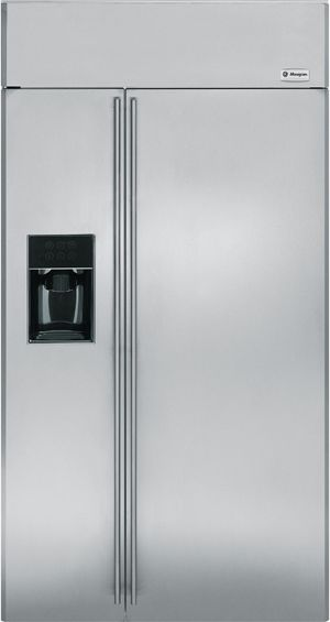 """Monogram® 42"""" Built-In Side-by-Side Refrigerator-ZISS420DXSS"""