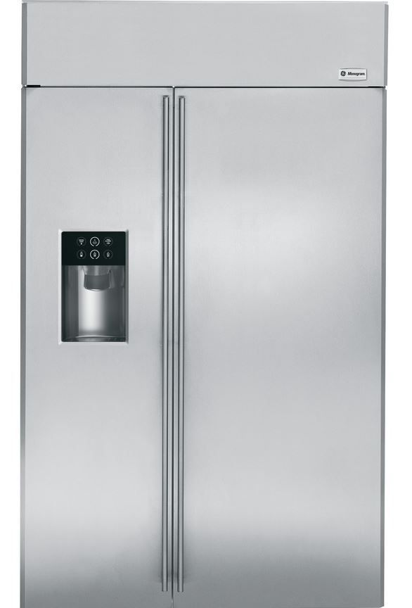 GE® Monogram® 29 Cu. Ft. Built-In Side-by-Side Refrigerator-Stainless Steel-ZISS480DHSS