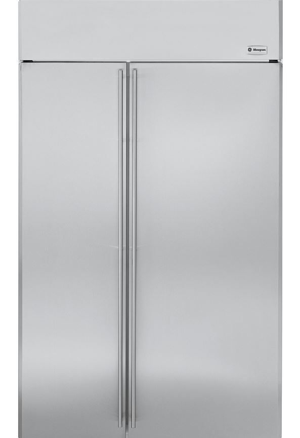 GE® Monogram® 30 Cu. Ft. Built-In Side-by-Side Refrigerator-Stainless Steel-ZISS480NHSS