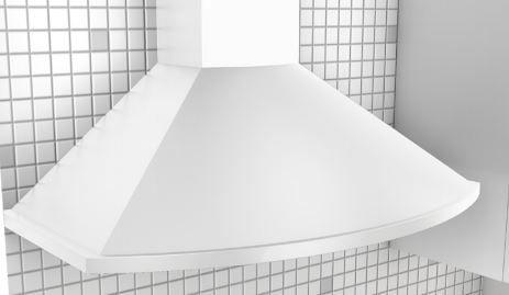 "Zephyr Essentials Europa Savona 36"" Wall Hood-White-ZSA-M90CW"