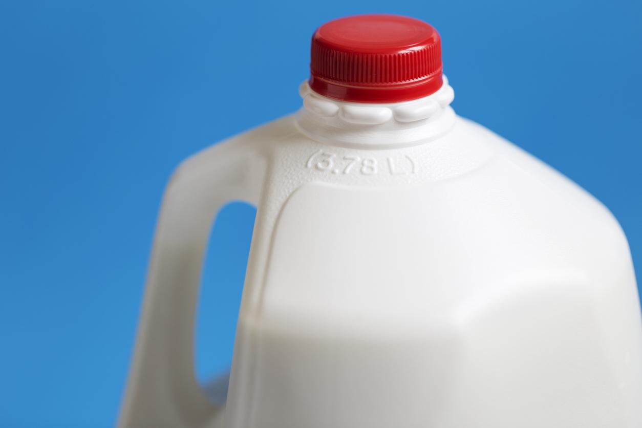 gallon of cold milk