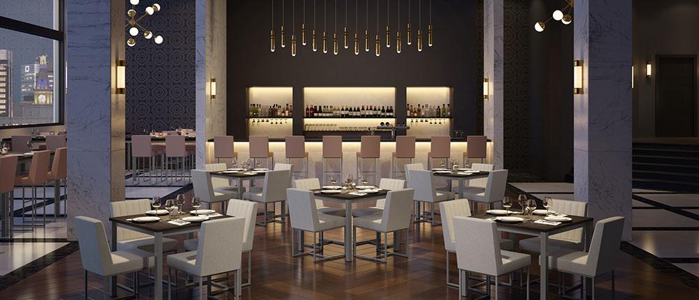 Restaurant sophistiqué