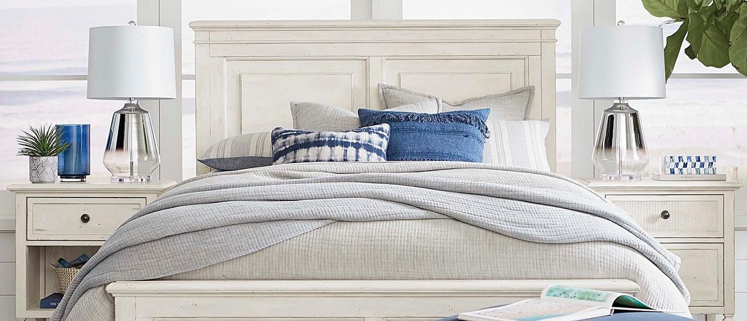 White Bassett bedroom set