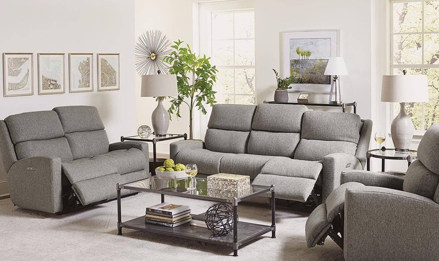 Recliners in living room