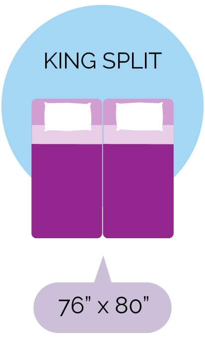 King Split size mattress dimensions