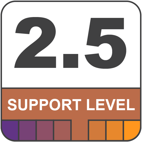 2.5 Support Level